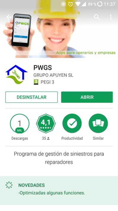 Descargar Apps de PWGS de Play Store